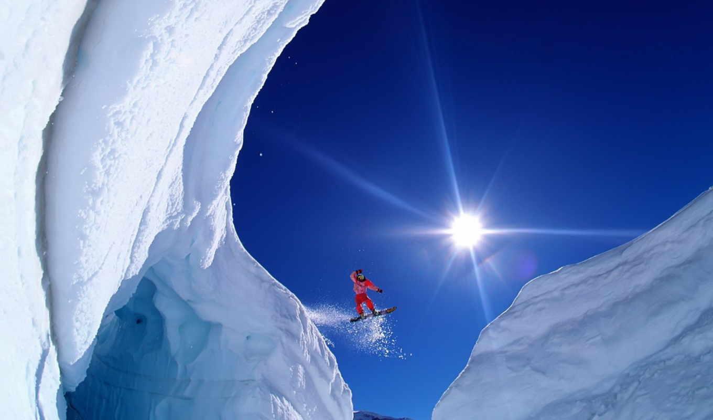 обои, сноуборд, сноуборде, спорт, экстрим, скачок,