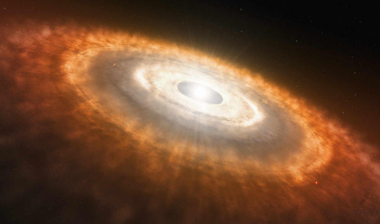 молодая, протопланетный, диск, звезда, картинка, disc, universe,