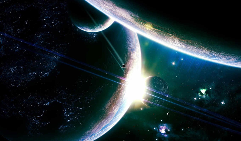 планеты, космос, корабль, солнце, корабли,