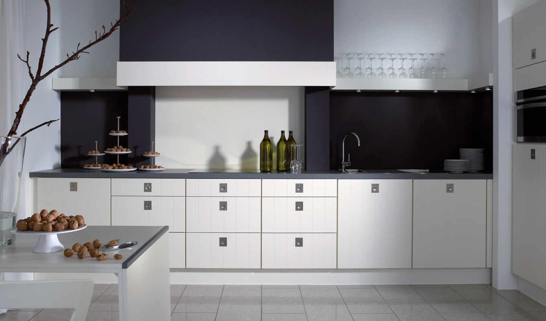 кухни, интерьер, интерьера, кухня, дизайн, чёрно, черный, только,
