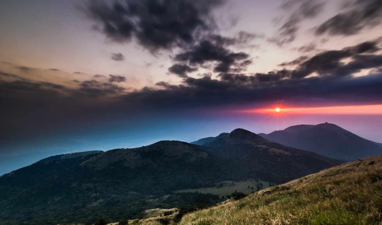 free, nubes, widescreen, mountains, dom, montañas, paisajes,