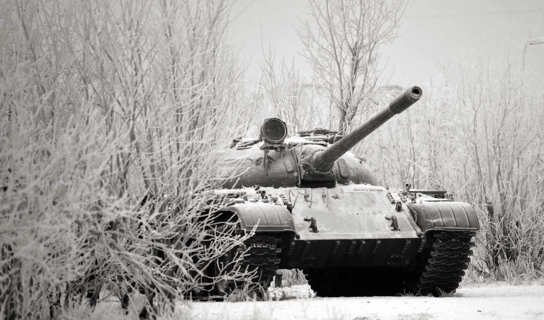 танк, оружие, winter, снег, метки, пистолет, комментарий, лес, world, tanks,