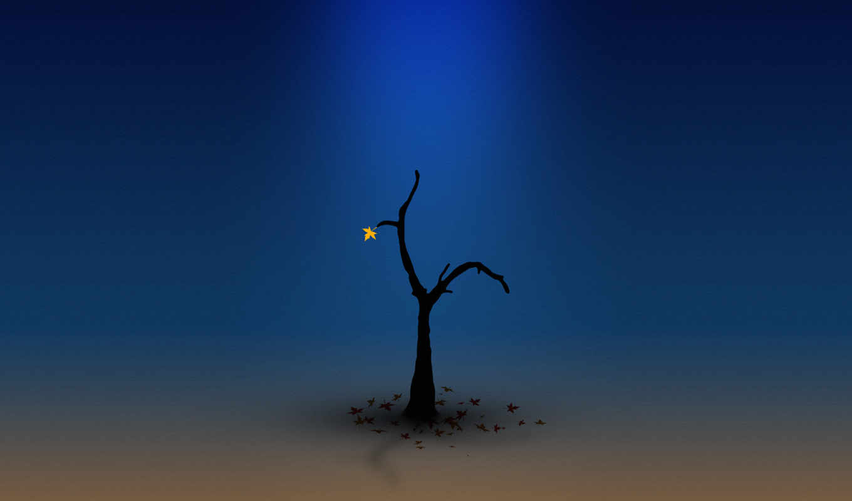 одинокий, mobile, телефон, themes, дерево, best, desktop, оранжевый, фон,