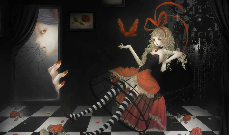 ты, alice, bird, red, anime, gothic, hair, tags, similar, информация, воспевающие, ночь, small, resolution, друзья, color, меня, colors, roses, with, кири, size, яойная, закладки, blonde,