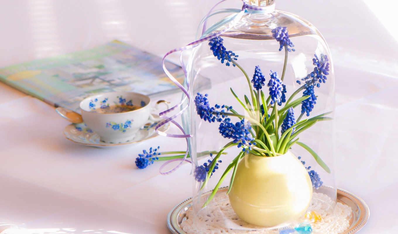 iphone, pizzot, coffee, love, tapety, flowers, blue, хороший, утро,