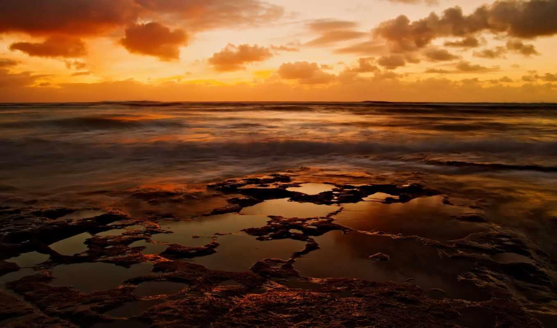 обновление, uhd, море, закат,