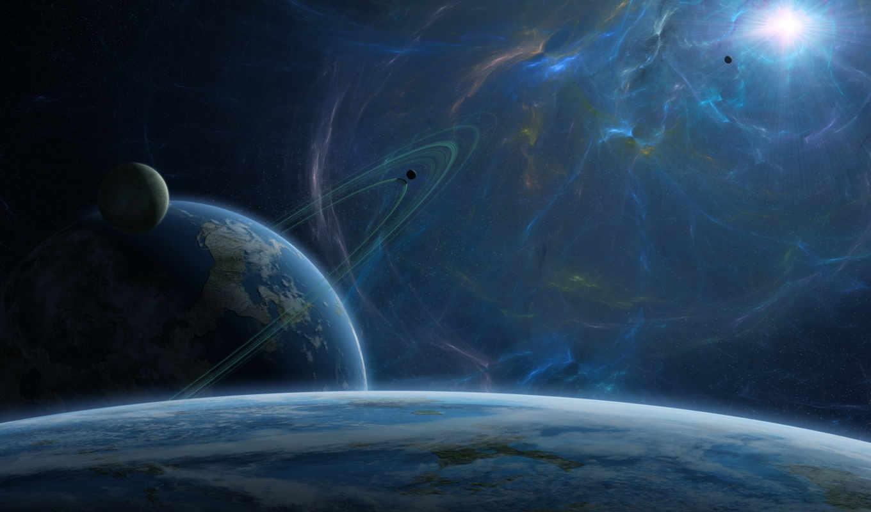 космос, звезда, планеты, планета, вселенная, галактика, кольца, картинка, картинку, спутники, звезды,