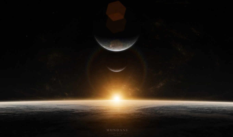 планеты, mundane, звезды, космос, sunrise,