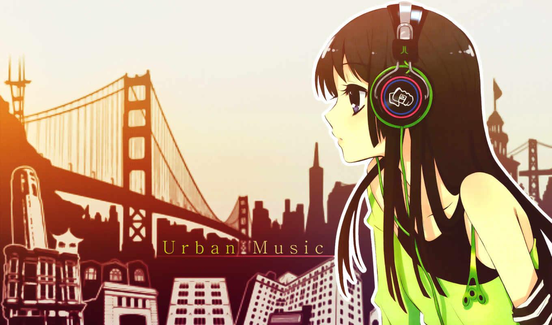 anime, девушка, beats, наушники, мио, город, headphones, music, girls, manga, dre,