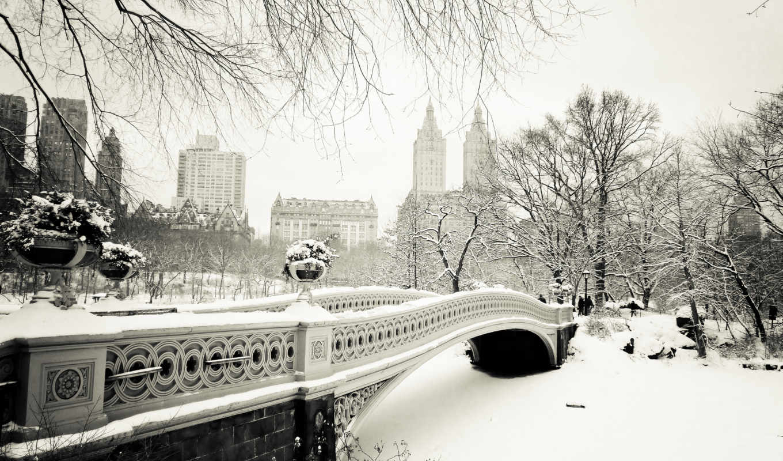 new, york, park, central, нью, bridge, city, bow, manhattan, сша, usa, nyc,