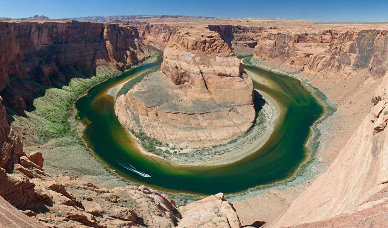 каньон, подкова, grand, usa, изгиб, река, англ, colorado,