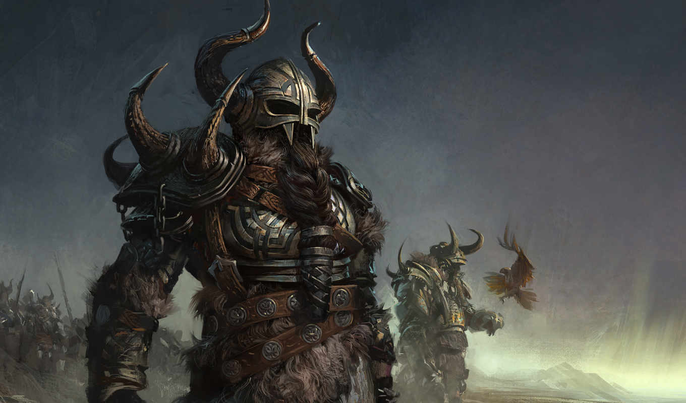 воин, games, шлем, борода, рога, картинка, коса, wars, guild, armored, norn, fantasy, игры, full, you, village, iphone, this,