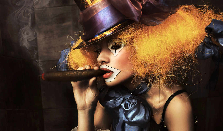 girl, girls, клоун, публикацию, пазл, smoking,