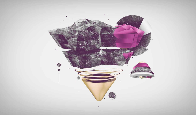 треугольник, яркий, взгляд, свет, линии, floyd, розовый,