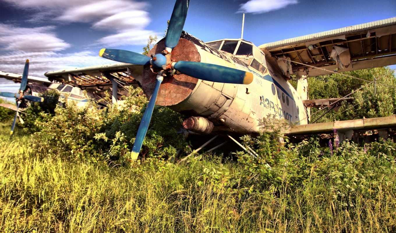 самолёт, кукурузник, обломки, винт, крылья, авиация,