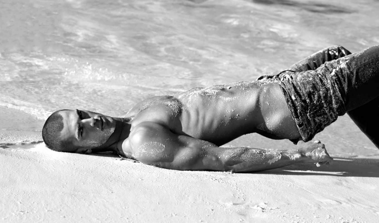 парень, пляже, мужчины, парни,