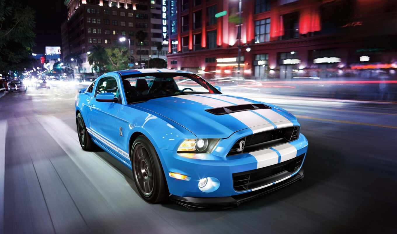 ,ford, shelby, mustang, gt500, blue,