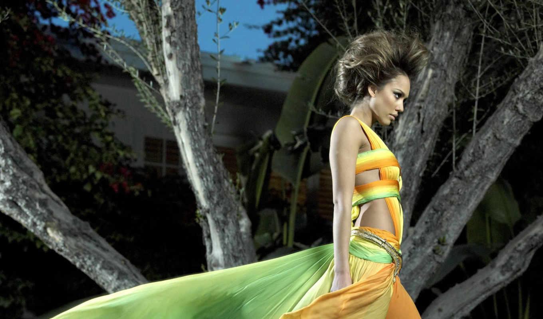alba, jessica, download, платье, радужное,