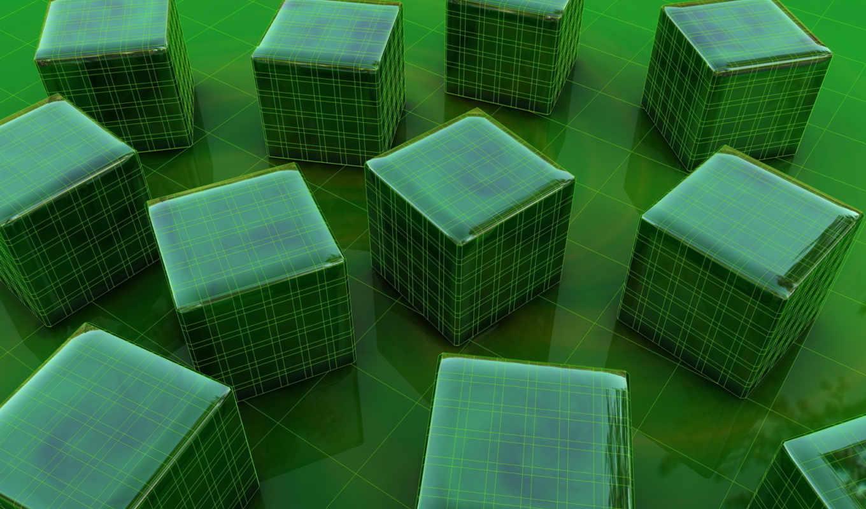 квадрат, абстракция, cubes, куб, green, картинка, iphone, шторы, просмотреть, цвет, кубики, форма,