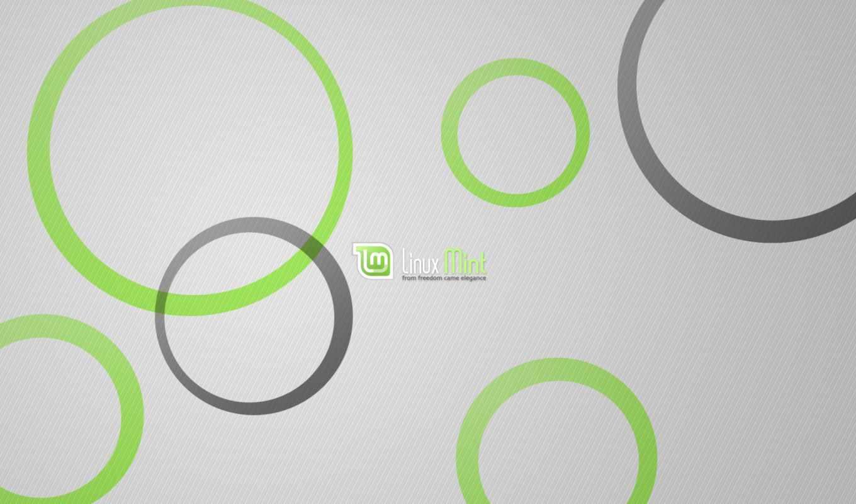 linux, mint, logo, green, grey