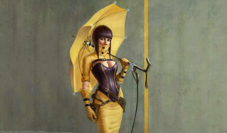 зонтик, girls, yellow, more, девушка, see,,