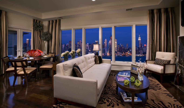 new, york, взгляд, manhattan, нью, город,