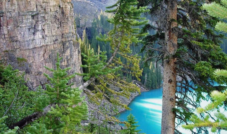 осень, ручей, mountains, картинка, река,
