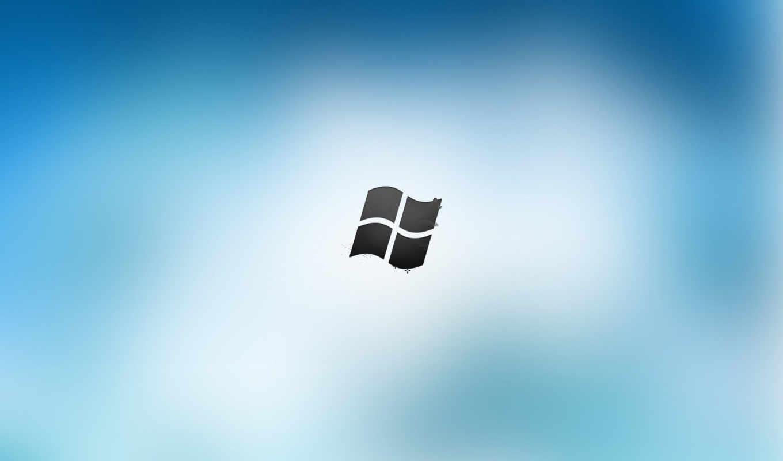 windows, лого, синий, белый