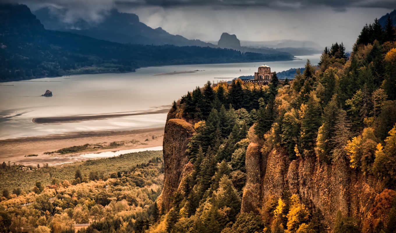 природы, прекрасными, уголками, river, columbia, gorge,