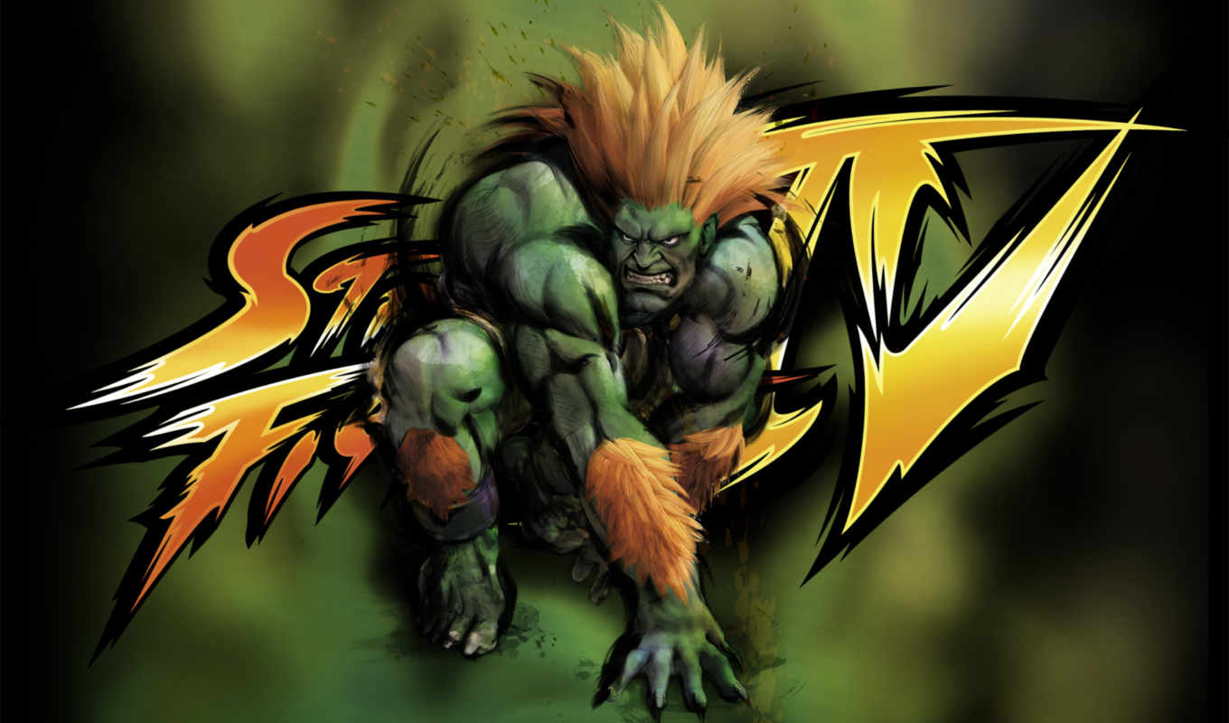 fighter, street, ôíõ, blanka, зверь, games, desktop,