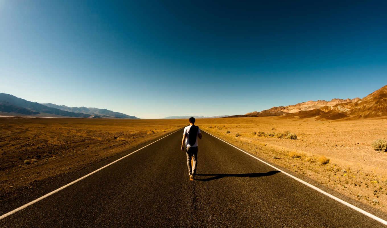 дорога, парень, loneliness, пустыня, пустота, путь, спина, дек,