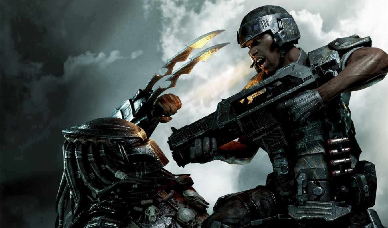 predator, игры, aliens, небо, пехотинец, game, games, компьютерные, видео, картинка,