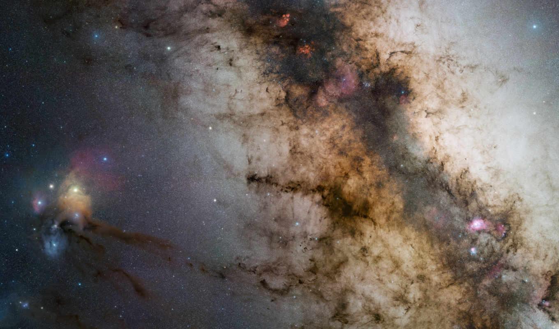 галактика, млечный, путь, звезды, центр, kosmos,