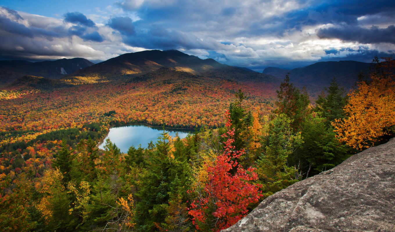 red, sky, wood, tree, green, wide, blue, sea, осень, картинку, картинка, кнопкой, озеро, лес, download, www, деревья, fall, листва, nature,