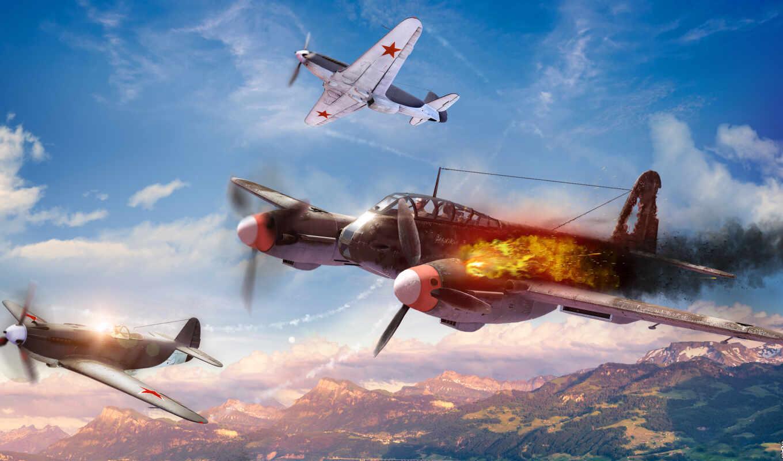 war, thunder, як, coach, game, самолёт, ме,