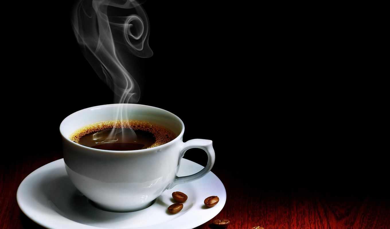 , чашка, кофе, зерна, ароматный,