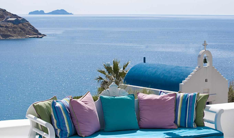 summer, море, небо, greek, природа, landscape, заставки,