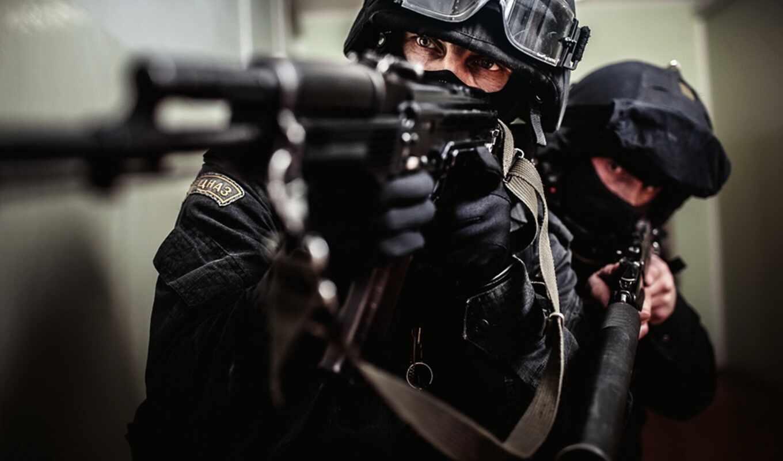 оружие, автомат, солдат, экипировка, очки