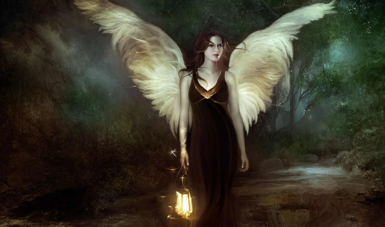 fantasy, светлячки, desktop, girl, dark, brown, fairy, видео,