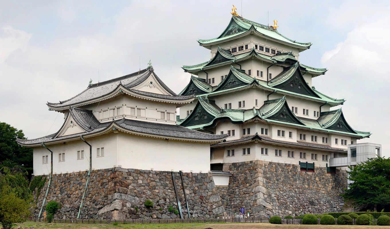 замок, япония, нагоя, castle, îòµäàïæåêç¾ü, японии, токио, картинка,