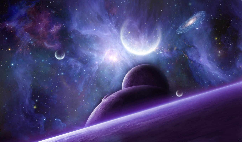 nathanblackwolf, звезды, космос, планеты, арт, галактика,