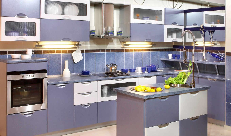 кухни, кухня, если, цвет, любого, кухне, синего,
