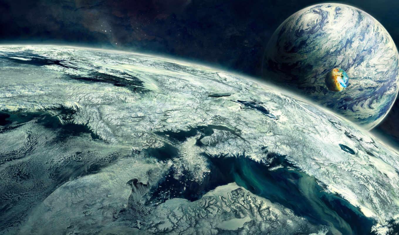cosmos, art, планеты,