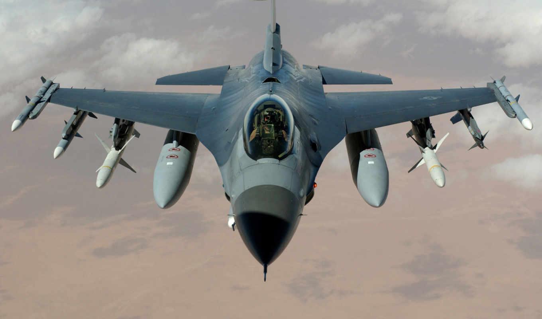 пилот, ракеты, истребитель, falcon, самолёт, ввс, бомбы, сражающийся, сша, многоцелевой,