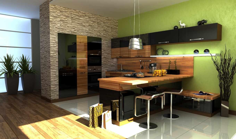 кухни, design, дизайна, зебрано,