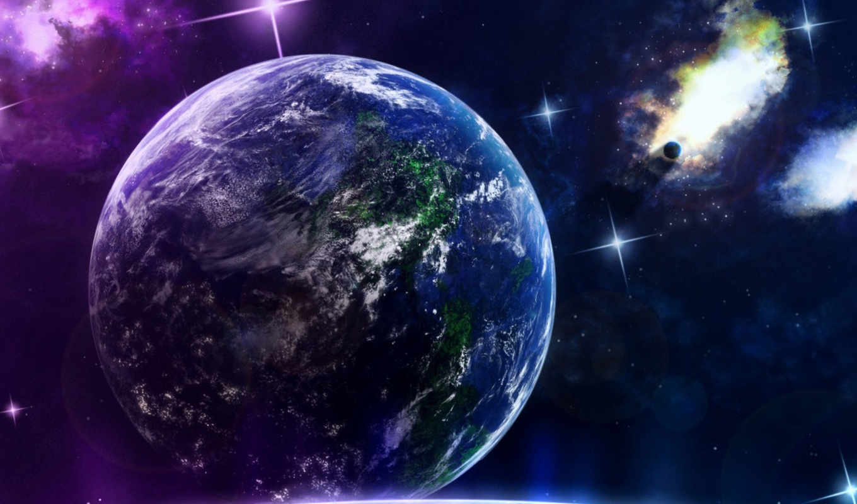 космос, планеты, earth,
