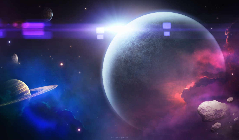 космос, art, планеты, planet,