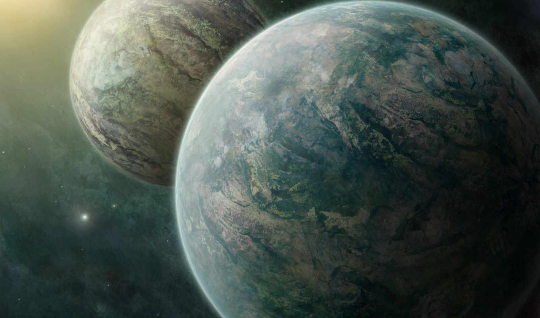 cosmos, звезды, planet, планеты, широкоформатные, две, nebula, art,