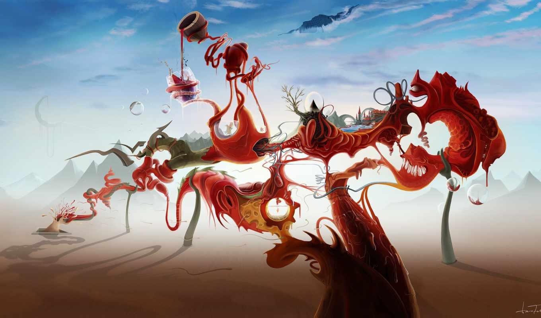 сюрреализм, краска, fantasy, world, графика, скачано, click, one, категория, admin, добавил,
