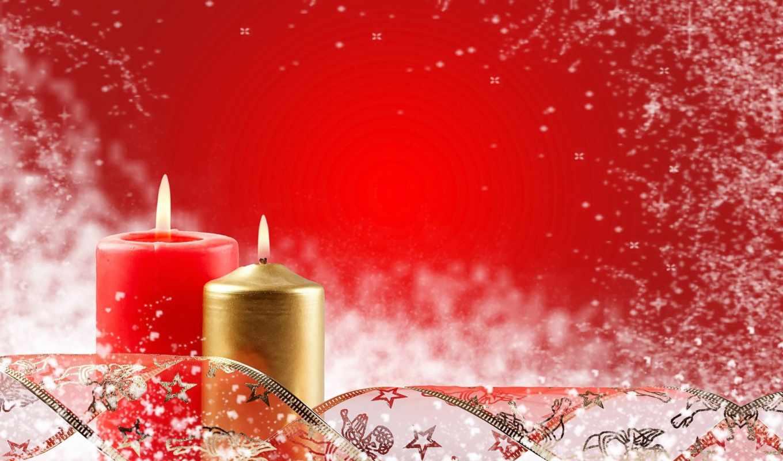 christmas, candles,